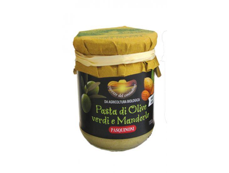Pasta Biologica di Olive Verdi dei Colli Riminesi e Mandorle, Oleificio Pasquinoni